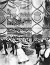 <p>Illustrations of President Benjamin Harrison's inaugural ball show elaborate garland decorations at the Pension Building in Washington, D.C. </p>