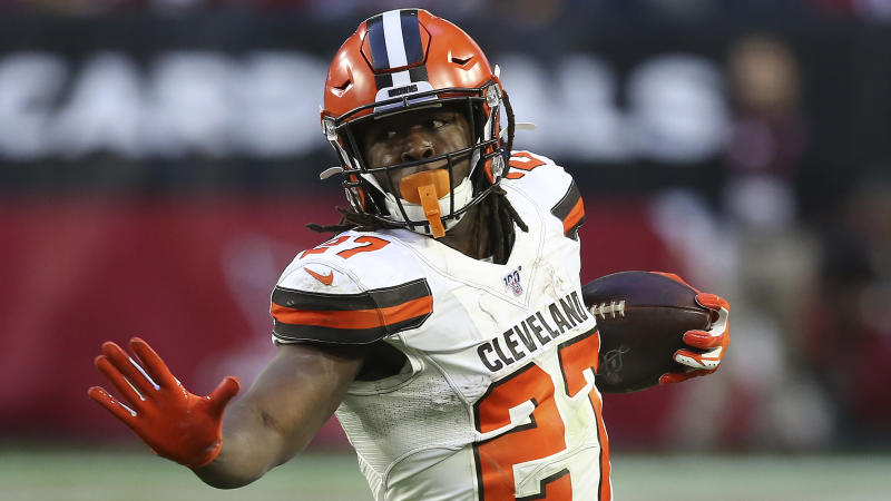 Browns' Kareem Hunt cited for speeding, marijuana in auto