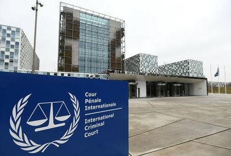 FILE PHOTO: The International Criminal Court building is seen in The Hague, Netherlands, January 16, 2019. REUTERS/Piroschka van de Wouw