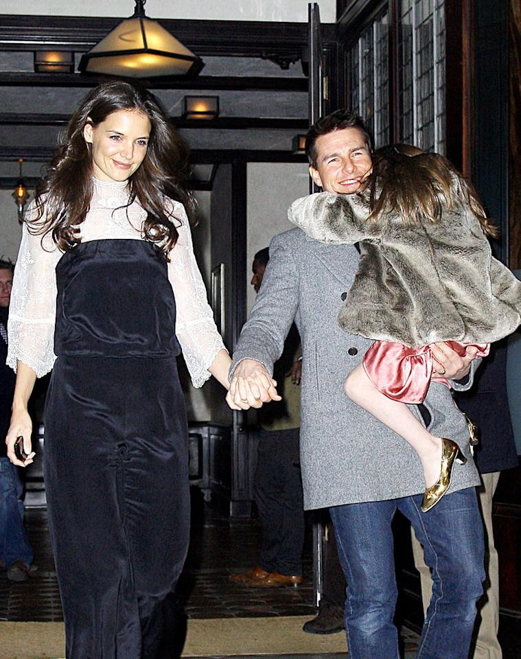 """Tom Cruise's marriage to Katie Holmes is being destroyed because of """"raunchy photos"""" of him """"half-naked in bed"""" with another woman, reports the National Enquirer. The mag says the """"erotic and explicit"""" pictures are sure to """"tear the couple apart."""" For how the """"ultra-steamy"""" photos emerged, and what enraged Holmes most about them, log on to <a target=""""_blank"""" href=""""http://www.gossipcop.com/tom-cruise-w-magazine-naked-pictures-nude-photos-abbey-lee-kershaw/"""">Gossip Cop</a>."""