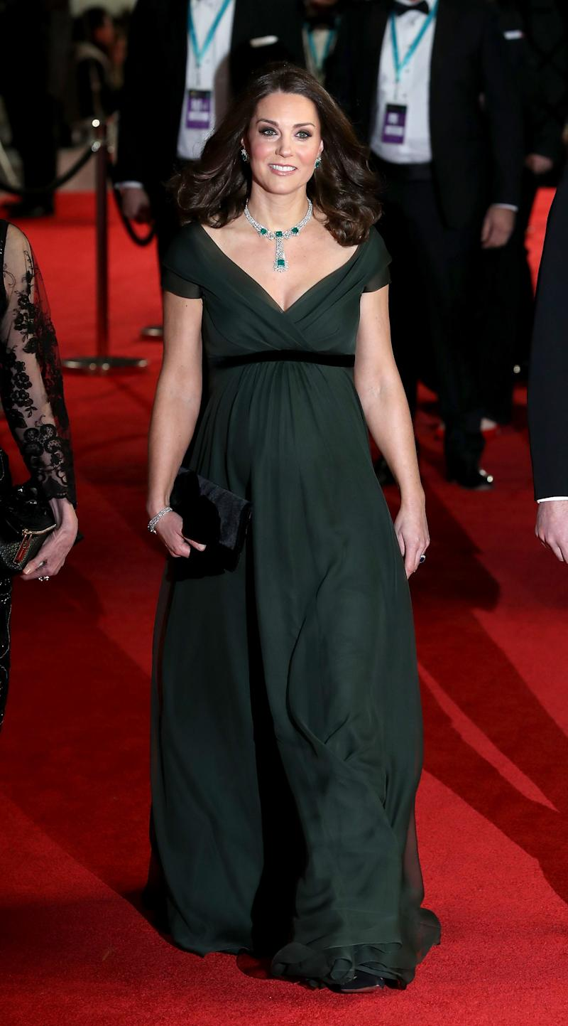 Kate Middleton Wore Green to the BAFTAs—Here's Why She Wasn't in Black