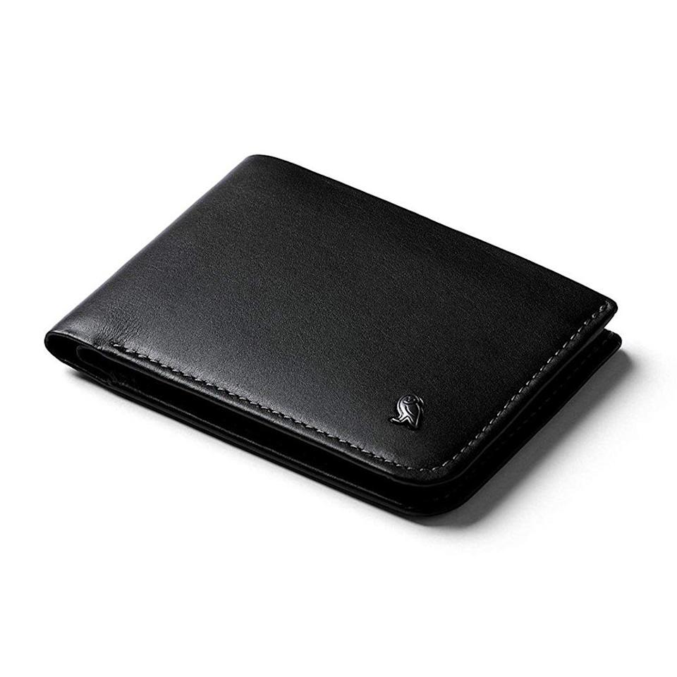 """<p>It's tough to find a slim wallet that can still fit all his cards and cash — but fashion can be functional. This stylish leather bi-fold is designed to fit up to 12 cards and flat bills in addition to its RFID protection. <br><strong><a href=""""https://fave.co/2QR5M5l"""" rel=""""nofollow noopener"""" target=""""_blank"""" data-ylk=""""slk:Shop it"""" class=""""link rapid-noclick-resp"""">Shop it</a>:</strong> $89, <a href=""""https://fave.co/2QR5M5l"""" rel=""""nofollow noopener"""" target=""""_blank"""" data-ylk=""""slk:amazon.com"""" class=""""link rapid-noclick-resp"""">amazon.com</a> </p>"""
