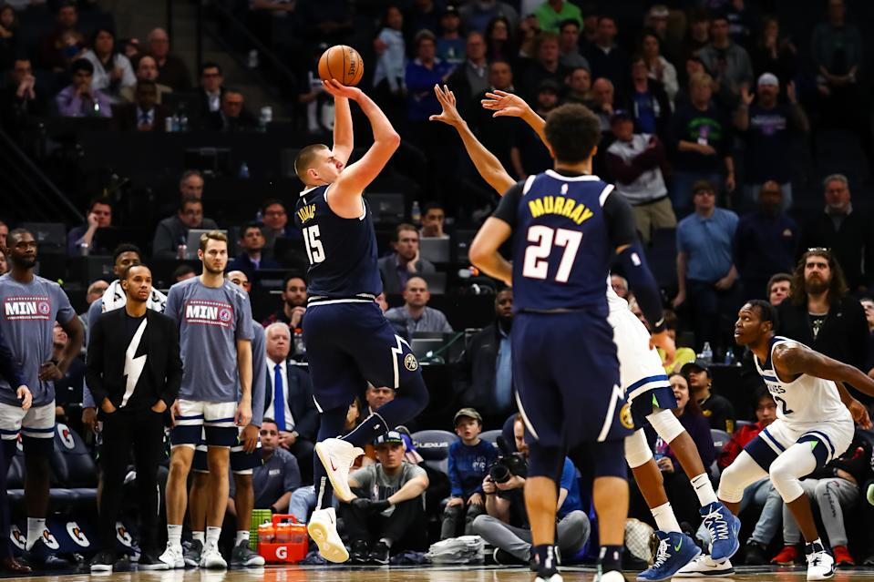 Nikola Jokic was 2-for-2 on game winners over the weekend. (David Berding/USA Today)
