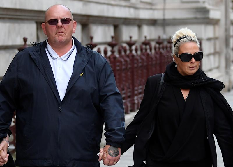 Tim Dunn and Charlotte Charles, parents of Harry Dunn, leave the Foreign and Commonwealth office in London, Britain, October 9, 2019. REUTERS/Toby Melville