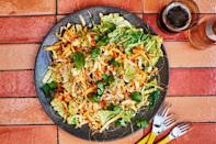 """We traded the goopy sweet mayo dressing in your typical cabbage slaw for a whipped, airy kimchi dressing. Cabbage two ways! The kimchi liquid boosts the flavor (and spice!) further. <a href=""""https://www.epicurious.com/recipes/food/views/spicy-kimchi-slaw?mbid=synd_yahoo_rss"""" rel=""""nofollow noopener"""" target=""""_blank"""" data-ylk=""""slk:See recipe."""" class=""""link rapid-noclick-resp"""">See recipe.</a>"""