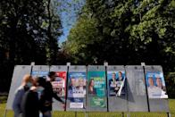 FILE PHOTO: Electoral panels ahead of the upcoming French regional elections in Cambrai