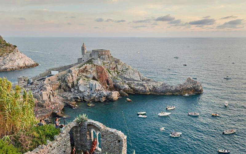 Saint Peter's Church in Porto Venere, before candles are lit for Madonna Bianca, | Chiara Goia