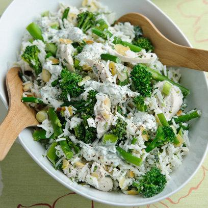 Lime and Coriander Chicken and Tenderstem Rice Salad: Recipes
