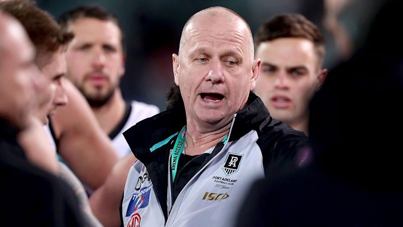 Pictured here, Port Adelaide coach Ken Hinkley.