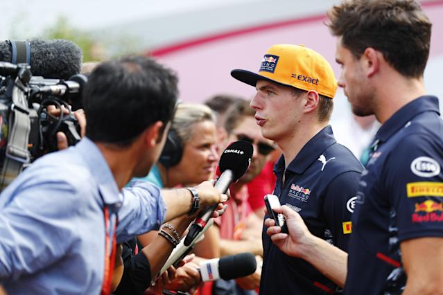 Bitter pill: Max Verstappen told media he hoped fans would protest against his penalty by staying away from next year's US Grand Prix