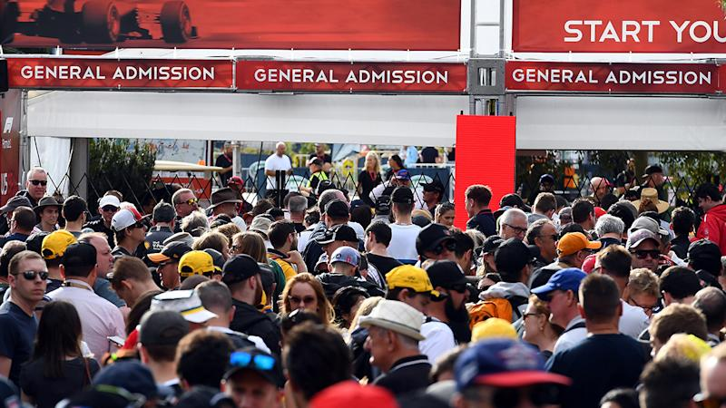 Formula One fans, pictured here queuing outside the gates at the Australian Grand Prix.