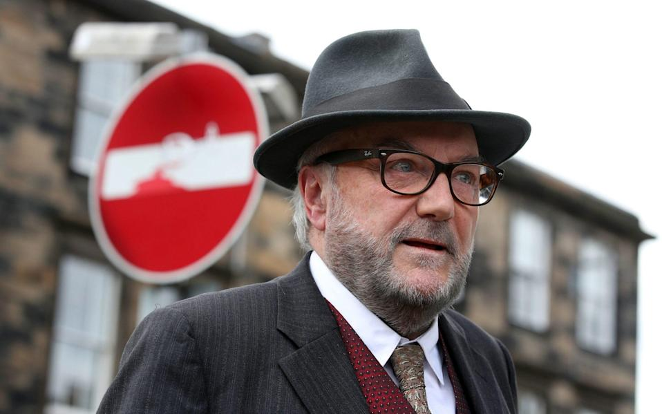 George Galloway during his manifesto launch - Andrew Milligan/PA