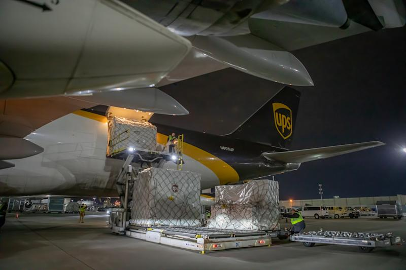 UPS says three million pounds of medical gowns, masks and other necessary medical supplies are being shipped to the U.S.
