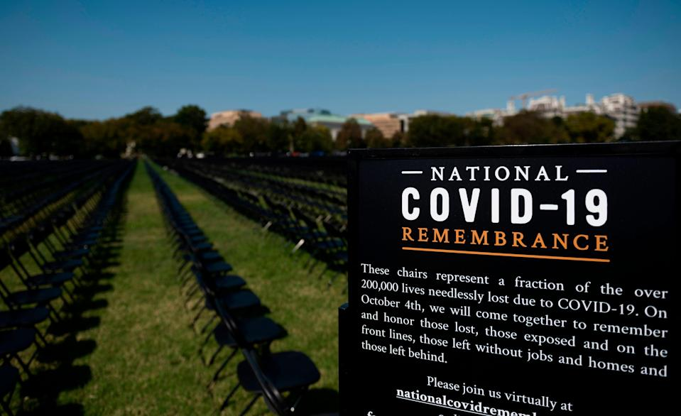 National COVID-19 Remembrance on Oct. 4, 2020, in Washington, D.C.