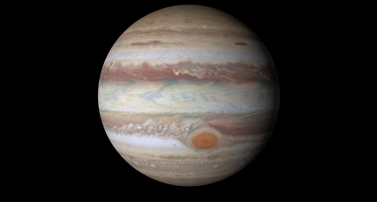 <p>The largest planet in our solar system will reach 'opposition' in April, meaning that it will slide into view as Earth moves into position between the sun and Jupiter. The massive planet's face will be illuminated by the sun and will be visible through binoculars or a telescope. (NASA) </p>
