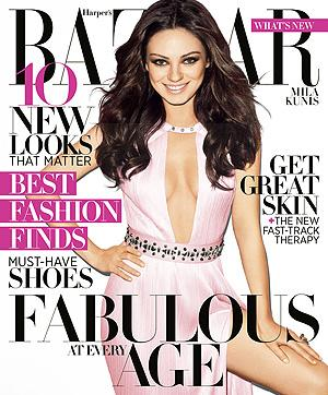 Mila Kunis is Harper's Bazaar's April cover girl. (Terry Richardson/Harper's Bazaar)