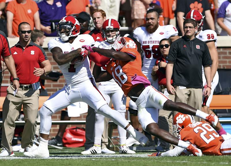 Clemson beat NC State 24-17 in overtime. (AP Photo/Richard Shiro)