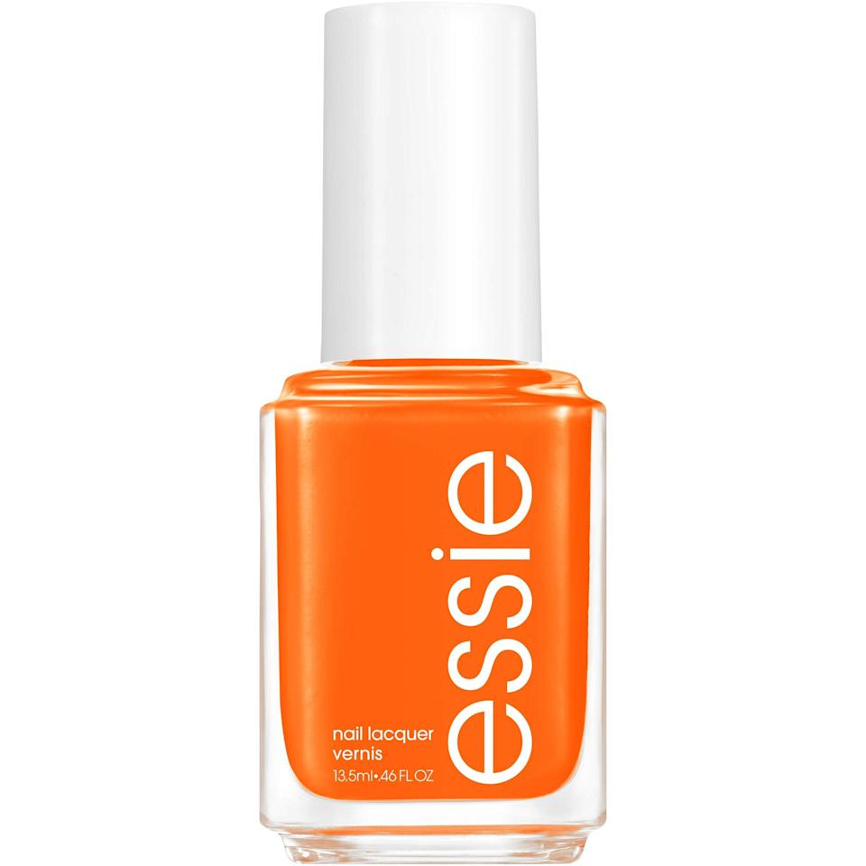 """<h3>Essie Tangerine Tease</h3><br>Out of <a href=""""https://www.refinery29.com/en-us/2021/04/10444053/essie-summer-nail-polish"""" rel=""""nofollow noopener"""" target=""""_blank"""" data-ylk=""""slk:Essie's Summer 2021 collection"""" class=""""link rapid-noclick-resp"""">Essie's Summer 2021 collection</a> comes a tangerine that hits the perfect sweet spot of orange: bright, but soft in undertone so it feels more citrus and less traffic-cone neon. <br><br><strong>Essie</strong> Tangerine Tease, $, available at <a href=""""https://www.amazon.com/essie-Limited-Collection-fluid_ounces-Tangerine/dp/B08WY55L9W"""" rel=""""nofollow noopener"""" target=""""_blank"""" data-ylk=""""slk:Amazon"""" class=""""link rapid-noclick-resp"""">Amazon</a>"""
