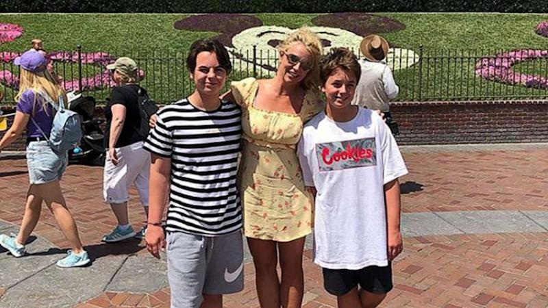 Britney Spears shares sweet family photo with her sons at Disneyland