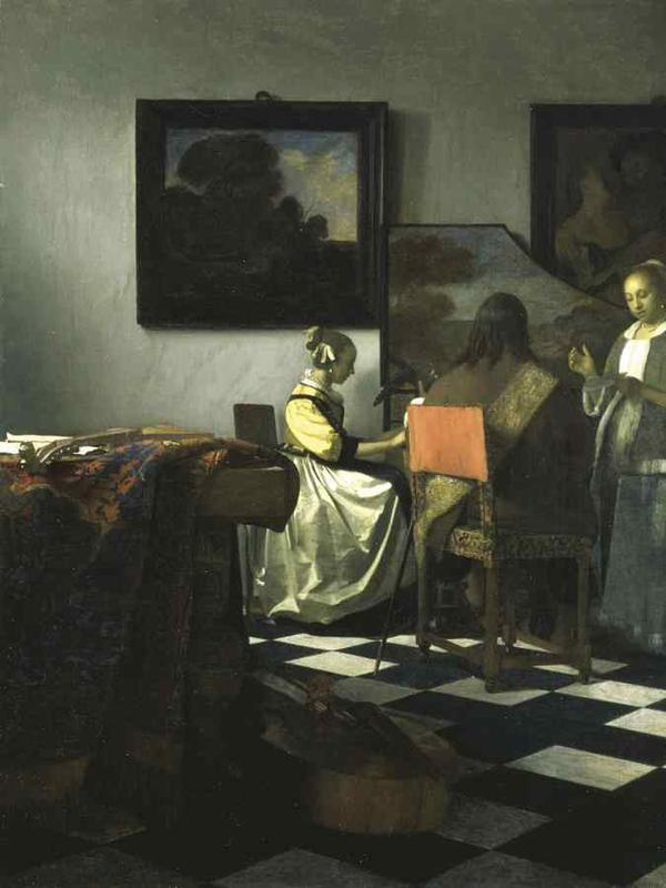 The Concert by Vermeer. (Sumber: Wikipedia commons)