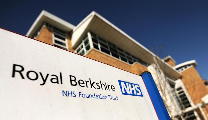 A file image of a Royal Berkshire NHS Trust sign (PA)