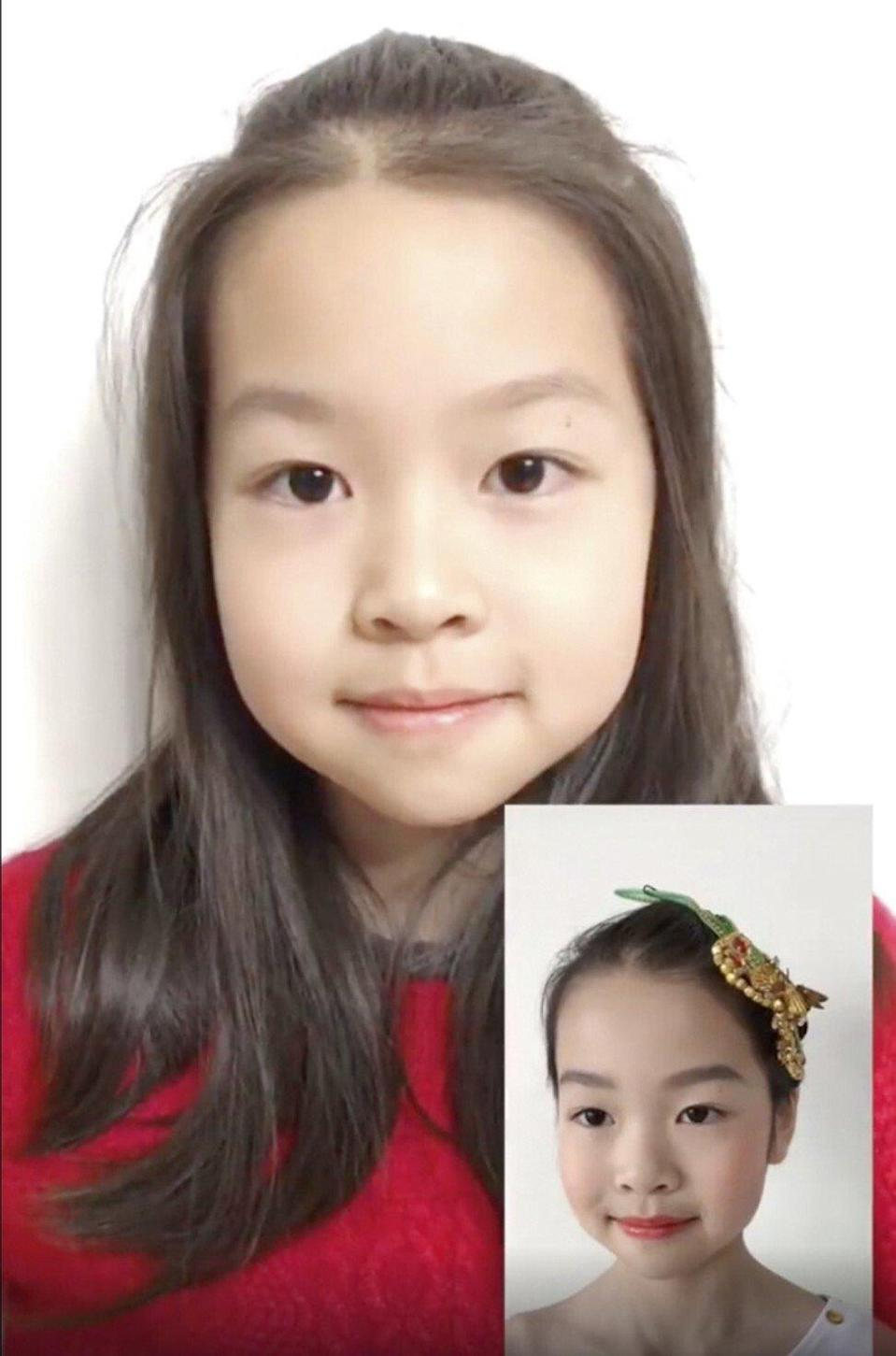 A child beauty vlogger in China.