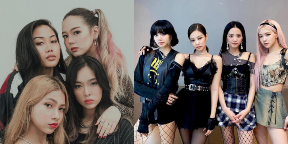 Dolla (left) has been plagued with accusations of being Blackpink copycats since their debut in March. — Pictures from Instagram/dolla.official and Instagram/blackpinkofficial