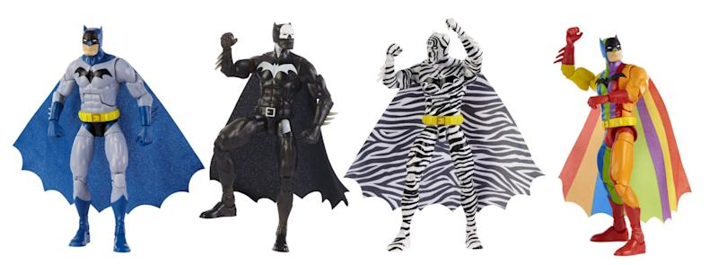 DC Comics The Strange Lives of Batman Action Figure Multipack (Photo: Mattel)