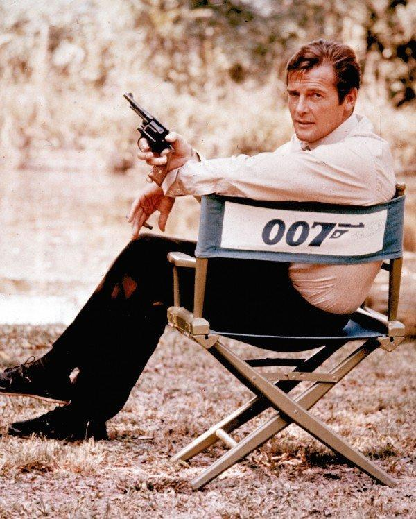 Roger Moore as James Bond (AP)