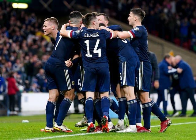 Scott McTominay (left) was the match-winner for Scotland