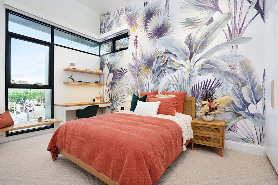 Jimmy and Tam's bedroom on The Block. Photo: Domain