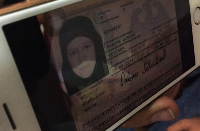 A German ID card left behind by ISIS militants. (Photo: Ash Gallagher for Yahoo News)