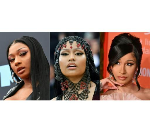 Rappers (L-R) Megan Thee Stallion, Nicki Minaj and Cardi B are among the women making waves in the rap world