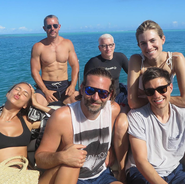 """<p>The renowned designer recently had a hilarious trip with pals Bradley Cooper, Irina Shayk, Anderson Cooper, Andy Cohen, and Allison Williams. """"Part of the funnest group ever ! Bye Tahiti !"""" (Photo: <a rel=""""nofollow noopener"""" href=""""https://www.instagram.com/p/BWVk3iKA9Z7/"""" target=""""_blank"""" data-ylk=""""slk:Diane von Furstenberg via Instagram"""" class=""""link rapid-noclick-resp"""">Diane von Furstenberg via Instagram</a>) </p>"""