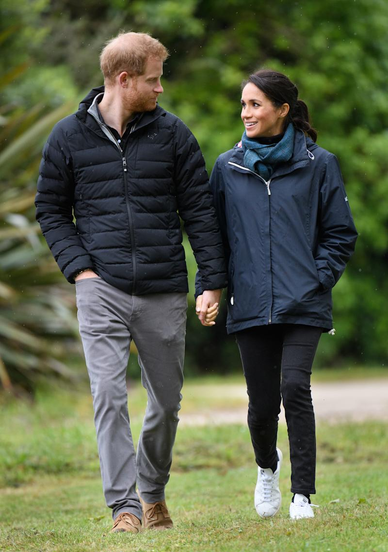 The Duchess even wore the iconic sneakers on a trip to Abel Tasman National Park in New Zealand (via Getty Images)