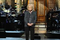 """<p>The Snickers commercial was so popular that it led to a Facebook campaign called """"Betty White to Host SNL (Please)"""" where fans begged the show to have White as a host. A few months later it was announced that White would take it on, becoming the oldest person to host <em>Saturday Night Live</em> at age 88. White told DeGeneres <a href=""""https://www.youtube.com/watch?v=60c9Rc0pw2c"""" rel=""""nofollow noopener"""" target=""""_blank"""" data-ylk=""""slk:in an interview"""" class=""""link rapid-noclick-resp"""">in an interview</a> that she had always turned down the hosting role because it was """"scary."""" She said she was, """"scared to death"""" to do the show. It ended up getting her an Emmy for Outstanding Guest Actress in a Comedy Series.<br></p>"""