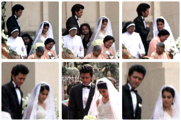 After the traditional Marathi style wedding, Genelia and Riteish tied the knot at a church here.
