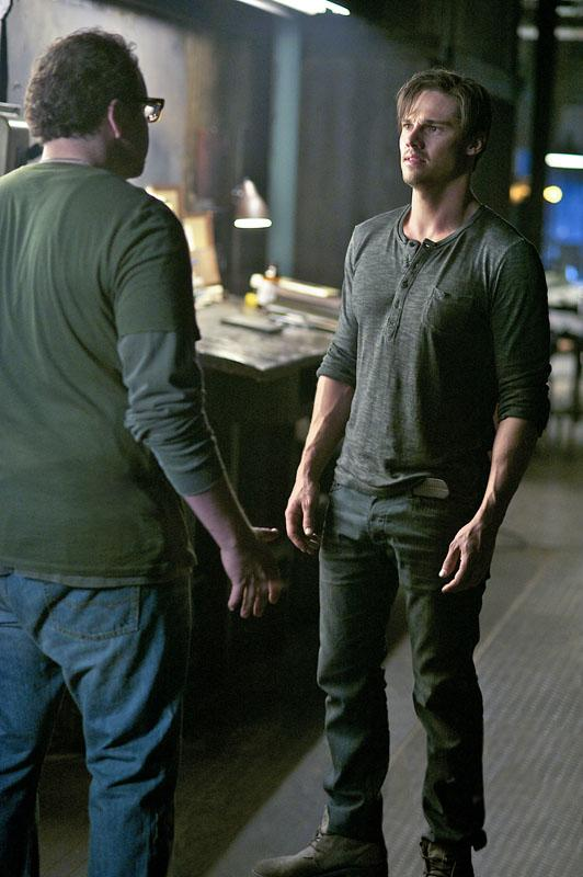 """Austin Basis as JT and Jay Ryan as Vincent in the """"Beauty and the Beast"""" episode, """"Proceed With Caution."""""""