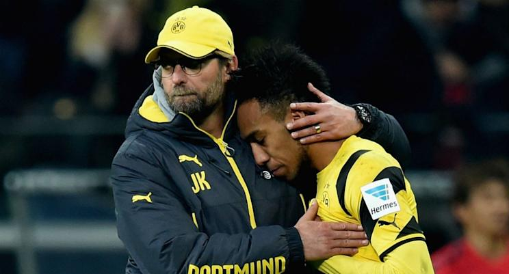 A reunion between Aubameyang and manager Jurgen Klopp might not work out as well as it seems. (Getty)