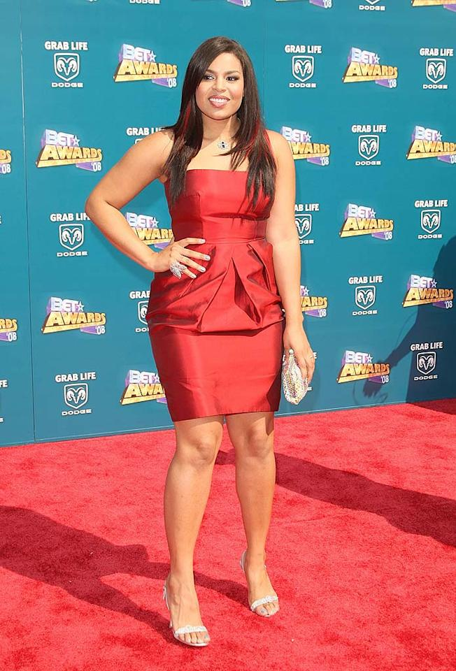 "Jordin Sparks set the red carpet on fire in a cute cocktail dress and highlighted hair. Jason Merritt/<a href=""http://www.filmmagic.com/"" target=""new"">FilmMagic.com</a> - June 24, 2008"