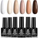 <p>After scoping out a variety of sets at various price points, the <span>Beetles 6-Piece Gel Polish Set</span> ($10-$14), which has four and a half stars and features several options for color combinations, takes the cake. </p>