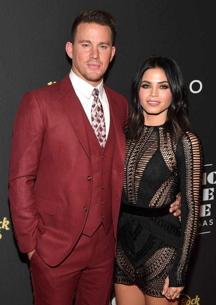 Channing Tatum and Jenna Dewan Tatum attend the grand opening of