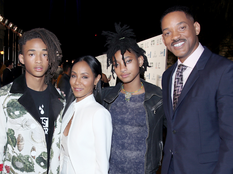 Trey Smith, Jaden Smith, Jada Pinkett Smith, Willow Smith, and Will Smith