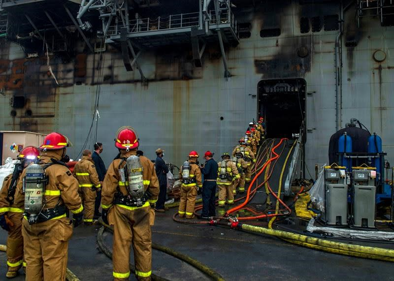 Defence official: Arson suspected as cause of Navy ship fire