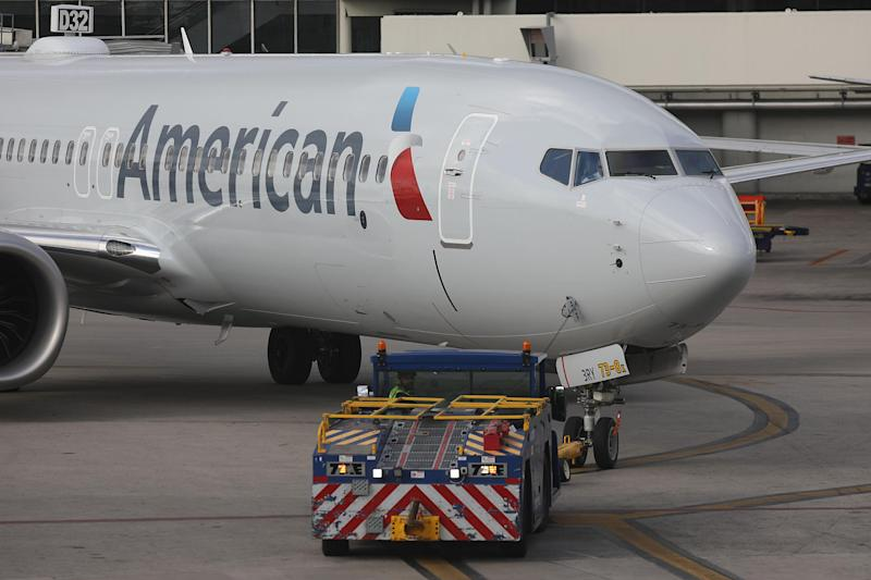 A file image of an American Airlines plane: Joe Raedle/Getty Images