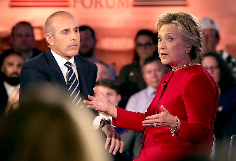 Matt Lauer Criticized After Moderating Hillary Clinton and Donald Trump's Commander-in-Chief Forum