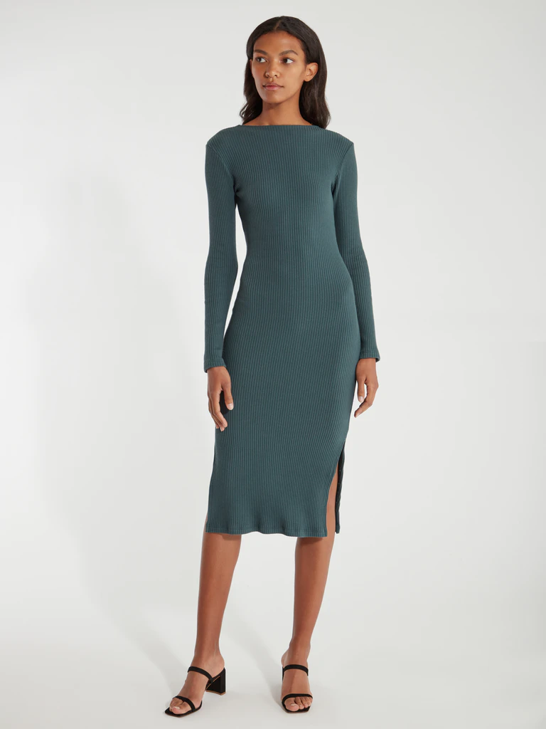"""<h3><a href=""""https://www.verishop.com/billie-the-label/dresses/wilma-rib-knit-midi-dress/p1816686526499"""" rel=""""nofollow noopener"""" target=""""_blank"""" data-ylk=""""slk:Billie The Label Wilma Rib Knit Midi Dress"""" class=""""link rapid-noclick-resp"""">Billie The Label Wilma Rib Knit Midi Dress</a></h3><br>We featured this rib-knit midi as one of our chosen <a href=""""https://www.refinery29.com/en-us/long-sleeve-midi-dress"""" rel=""""nofollow noopener"""" target=""""_blank"""" data-ylk=""""slk:winter-wardrobe stars"""" class=""""link rapid-noclick-resp"""">winter-wardrobe stars</a> — and at over 70% off its usual price, it was an instant shoo-in for most wanted reader material. <br><br><strong>Billie the Label</strong> Wilma Rib Knit Midi Dress, $, available at <a href=""""https://www.verishop.com/billie-the-label/dresses/wilma-rib-knit-midi-dress/p1816686526499?color=hunter"""" rel=""""nofollow noopener"""" target=""""_blank"""" data-ylk=""""slk:Verishop"""" class=""""link rapid-noclick-resp"""">Verishop</a>"""