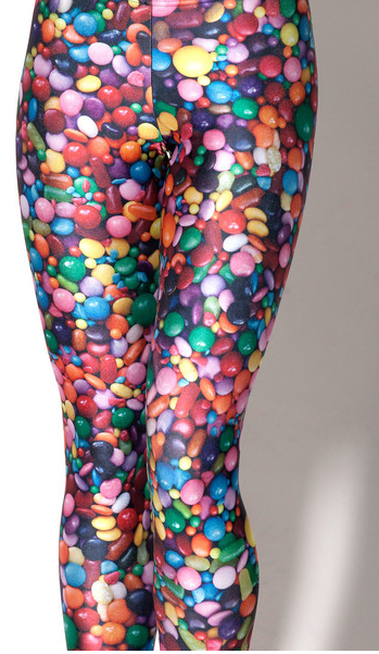 """<div class=""""caption-credit""""> Photo by: blackmilkclothing.com</div><div class=""""caption-title"""">Candy Leggings, $71</div>The cost of gum ball:25 cents. The cost of becoming a human gum ball dispenser: $75 and possibly your pride. <br>"""
