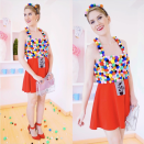 """<p>Simply glue multicolored pom-poms to the top half of a red dress. Make sure to craft a little dispenser out of some gray and black felt, too. </p><p><a class=""""link rapid-noclick-resp"""" href=""""http://www.mariemcgrath.com/2014/10/halloween-homemade-gumball-machine.html?m=1"""" rel=""""nofollow noopener"""" target=""""_blank"""" data-ylk=""""slk:GET THE TUTORIAL"""">GET THE TUTORIAL</a> </p><p><a class=""""link rapid-noclick-resp"""" href=""""https://www.amazon.com/Acerich-Assorted-Multicolor-Creative-Decorations/dp/B0773MQY4H/?tag=syn-yahoo-20&ascsubtag=%5Bartid%7C10072.g.33547559%5Bsrc%7Cyahoo-us"""" rel=""""nofollow noopener"""" target=""""_blank"""" data-ylk=""""slk:SHOP POM-POMS"""">SHOP POM-POMS</a></p>"""