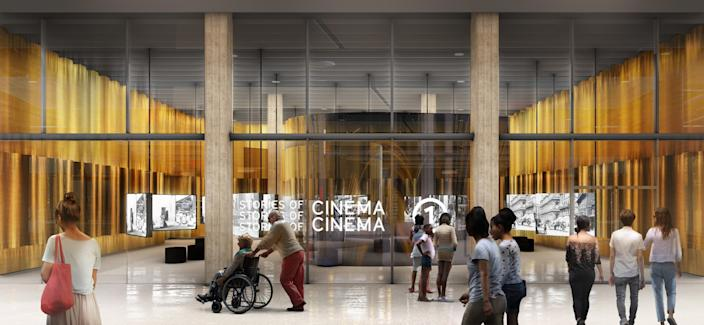 """An interior rendering of the Academy Museum of Motion Pictures, designed by wHY. Founder Kulapat Yantrasast is looking into how museums might safely reopen when the lockdown orders lift. <span class=""""copyright"""">(wHY / Academy Museum Foundation)</span>"""